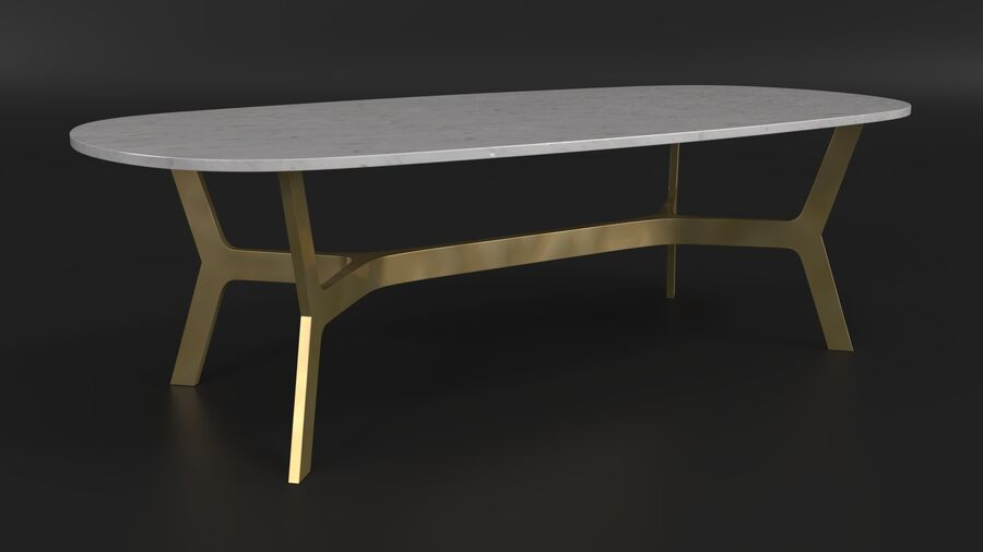 Elke Rectangular Coffee Table royalty-free 3d model - Preview no. 5