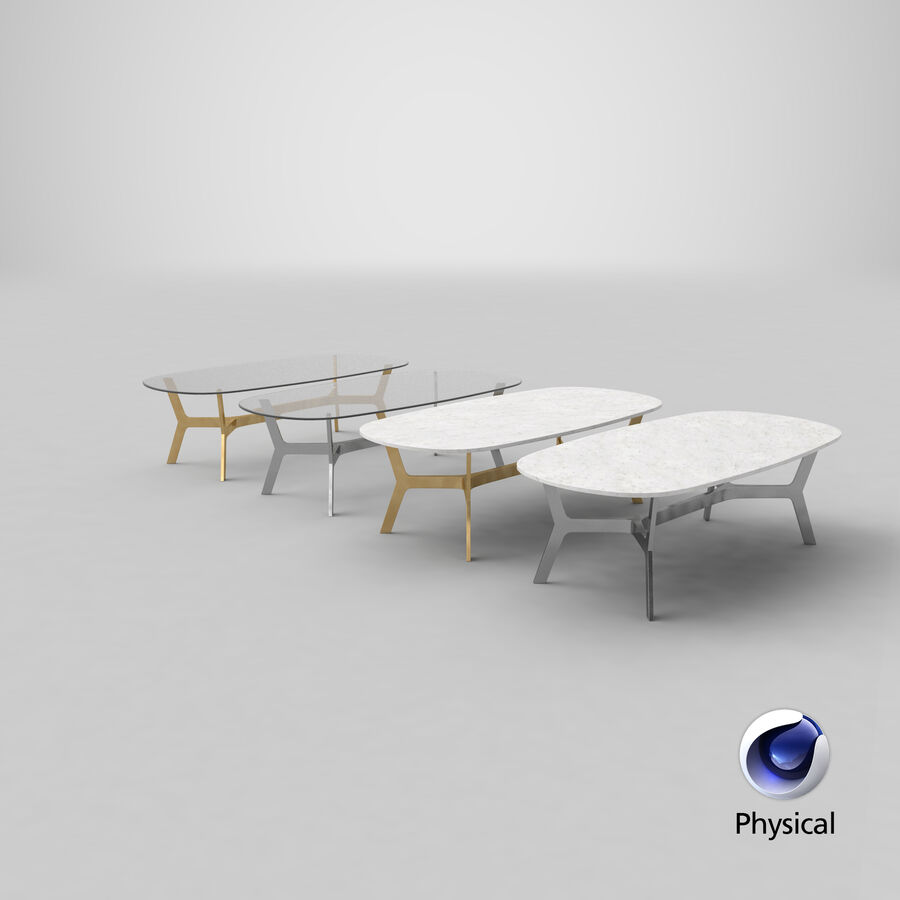 Elke Rectangular Coffee Table royalty-free 3d model - Preview no. 23