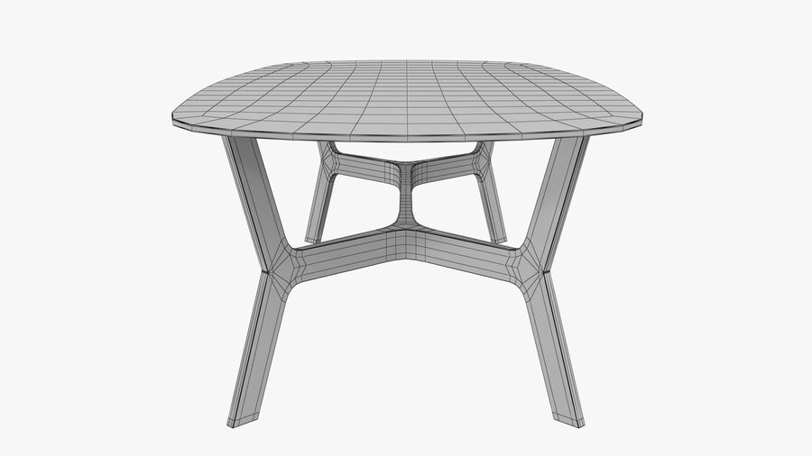 Elke Rectangular Coffee Table royalty-free 3d model - Preview no. 14
