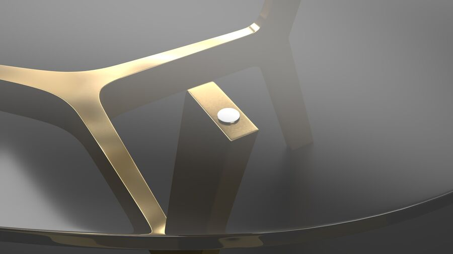 Elke Rectangular Coffee Table royalty-free 3d model - Preview no. 10