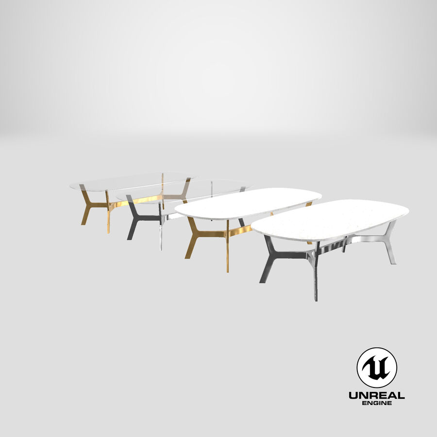 Elke Rectangular Coffee Table royalty-free 3d model - Preview no. 26
