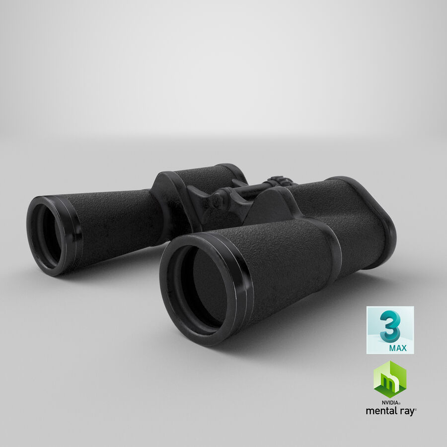 Binoculars royalty-free 3d model - Preview no. 21