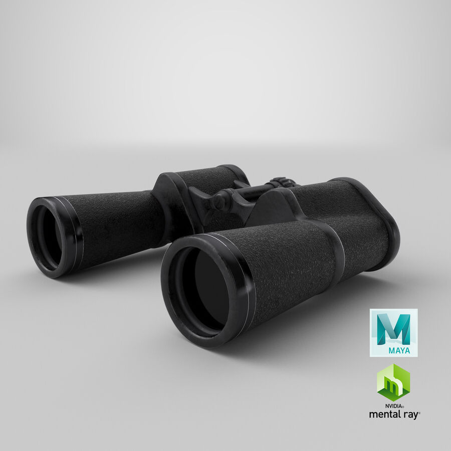 Binoculars royalty-free 3d model - Preview no. 24