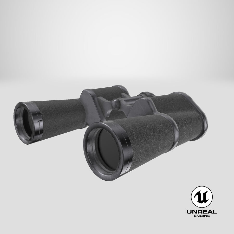 Binoculars royalty-free 3d model - Preview no. 19