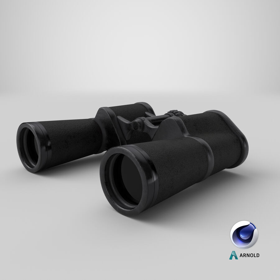 Binoculars royalty-free 3d model - Preview no. 17