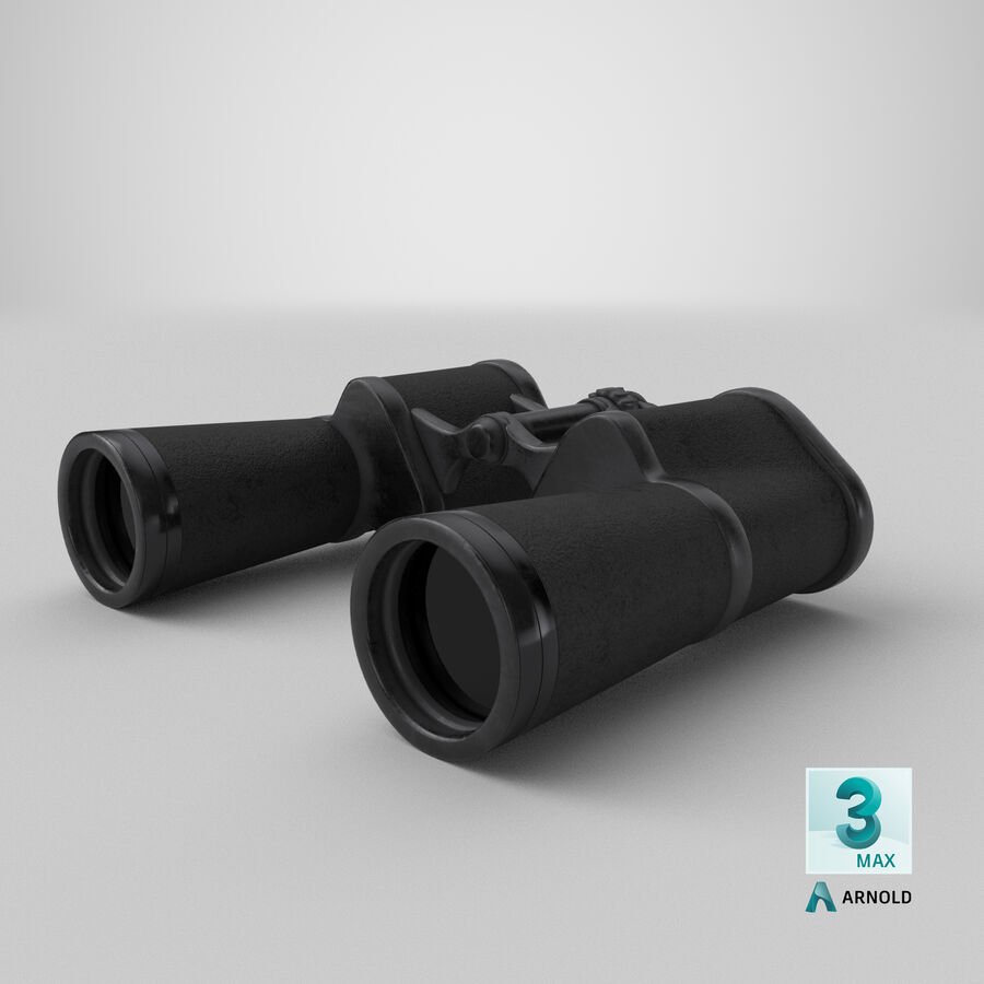 Binoculars royalty-free 3d model - Preview no. 20