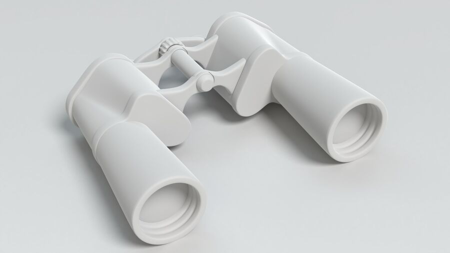 Binoculars royalty-free 3d model - Preview no. 12