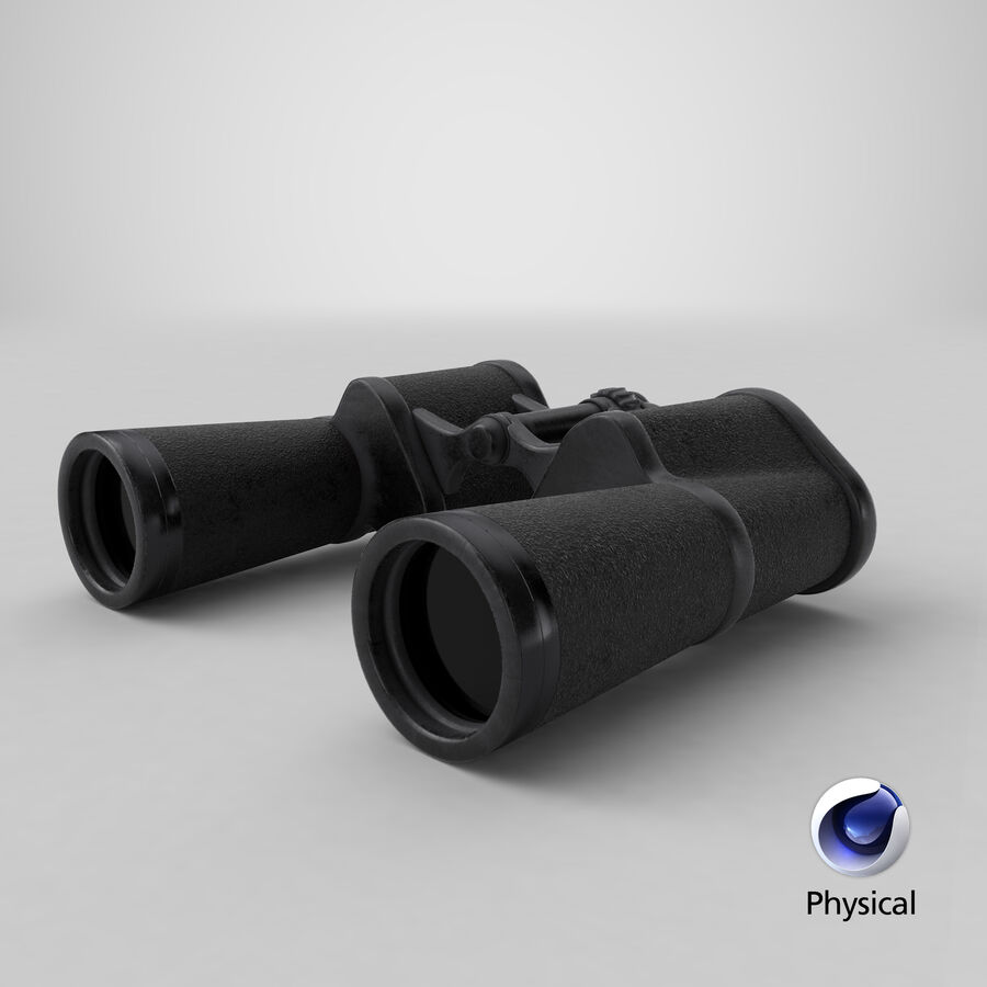Binoculars royalty-free 3d model - Preview no. 16