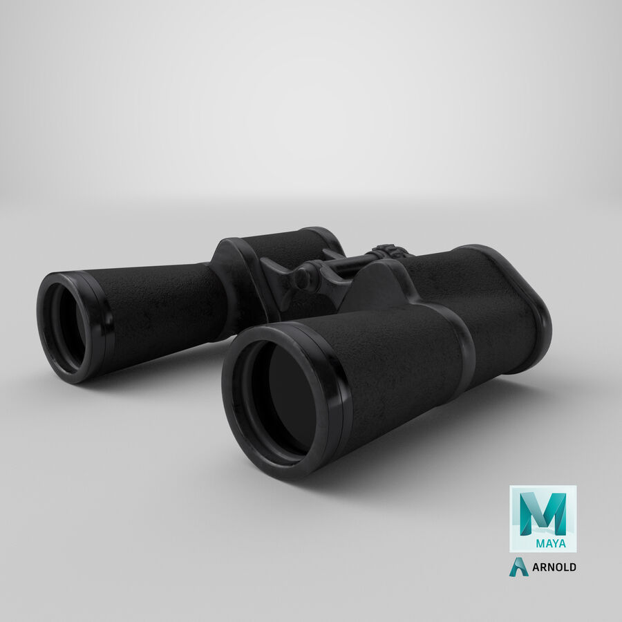 Binoculars royalty-free 3d model - Preview no. 23