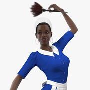 Dark Skin Black Maid Rigged 3d model