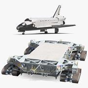 NASA Missile Crawler Transporter Einrichtungen mit Space Shuttle Collection 3d model