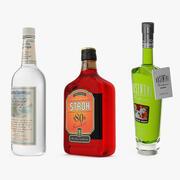 Coleção de bebidas alcoólicas 3d model