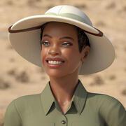Light Skin Black Woman Explorer Rigged para Modo modelo 3d