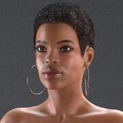 裸体光皮肤黑人妇女索要Modo 3d model