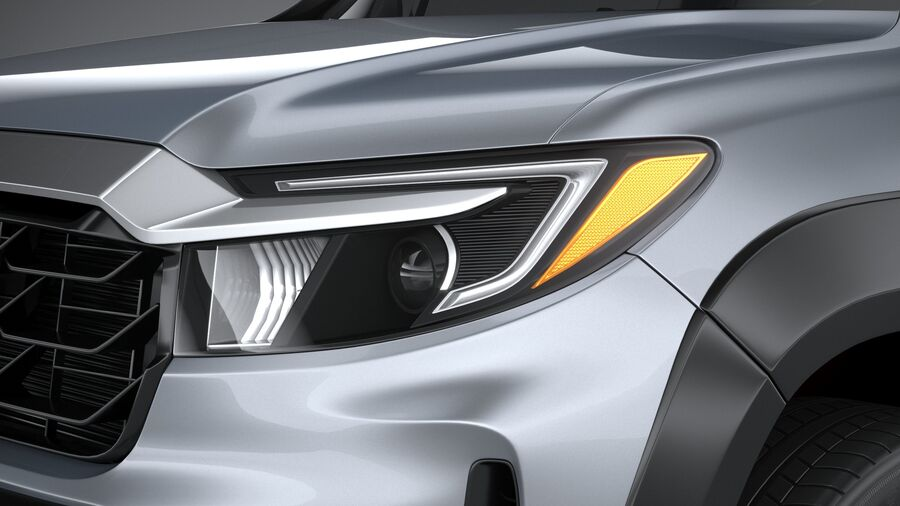 Honda Ridgeline 2021 royalty-free 3d model - Preview no. 15