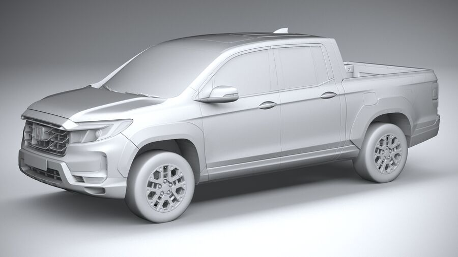 Honda Ridgeline 2021 royalty-free 3d model - Preview no. 20