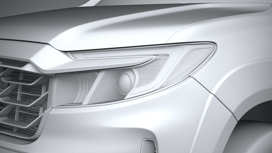 Honda Ridgeline 2021 royalty-free 3d model - Preview no. 24