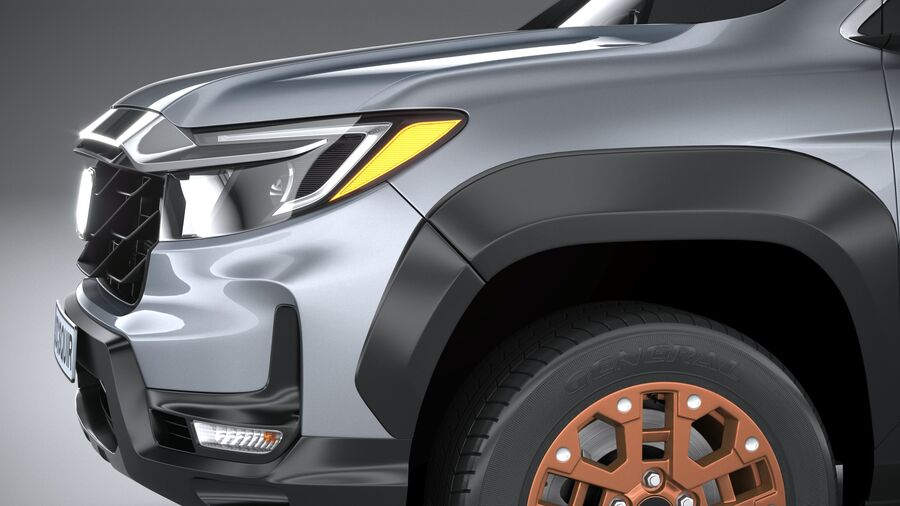 Honda Ridgeline 2021 royalty-free 3d model - Preview no. 4