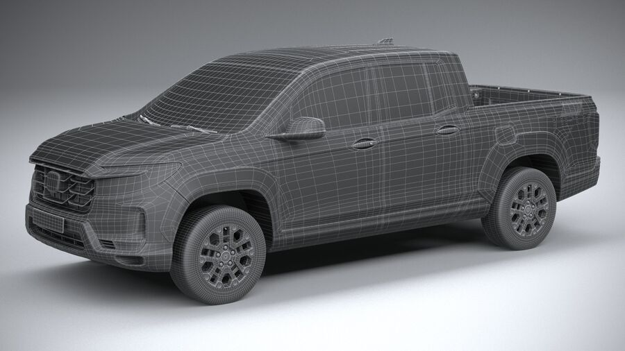 Honda Ridgeline 2021 royalty-free 3d model - Preview no. 29
