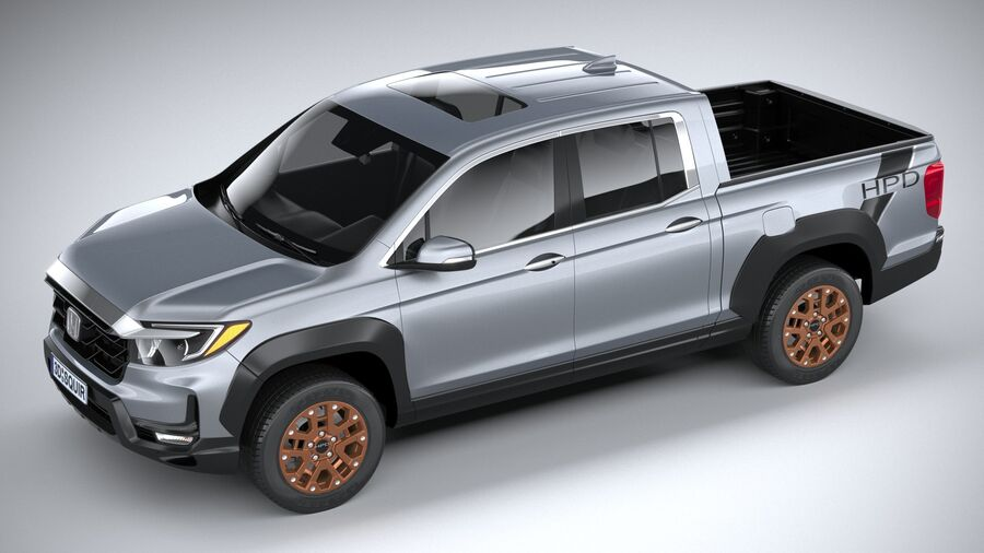 Honda Ridgeline 2021 royalty-free 3d model - Preview no. 8