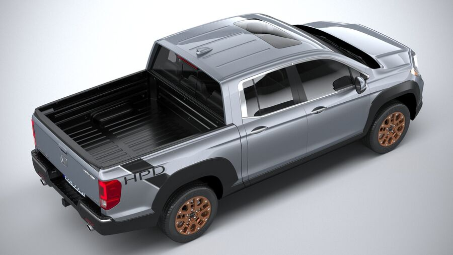 Honda Ridgeline 2021 royalty-free 3d model - Preview no. 11