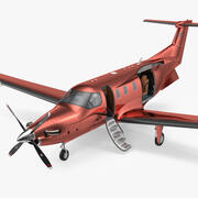 Turboprop Business Aircraft Rigged 3d model