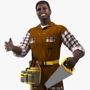 アフリカ系アメリカ人の大工が装備 3d model