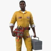 アフリカ系アメリカ人の錠前屋が装備 3d model