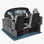 Business Aircraft Pilot Cockpit 3d model