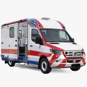 Krankenwagen Fahrzeug manipuliert 3d model