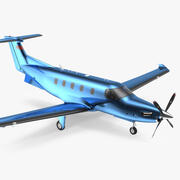 Turboprop Business Aircraft Simple Interior 3d model