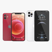 Apple iPhones 12 Collection 3d model