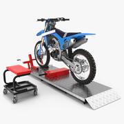Комплект переносного подъемника с приспособлением для мотокросса 3d model