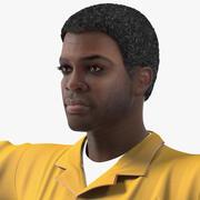 Афро-американский слесарь, приспособленный для Modo 3d model