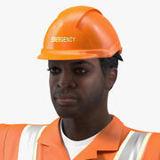 African American Rescuer Rigged for Modo 3d model