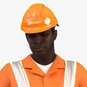 African American Rescuer Rigged for Maya 3d model