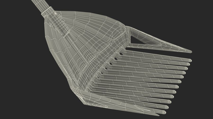 Multipurpose Combined Rake Shovel Sieve royalty-free 3d model - Preview no. 26