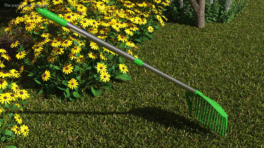 Multipurpose Combined Rake Shovel Sieve royalty-free 3d model - Preview no. 3
