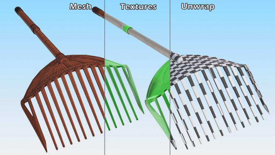 Multipurpose Combined Rake Shovel Sieve royalty-free 3d model - Preview no. 14