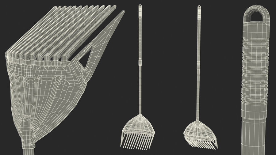 Multipurpose Combined Rake Shovel Sieve royalty-free 3d model - Preview no. 24
