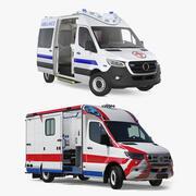 Сбор грузовых машин скорой помощи 3d model