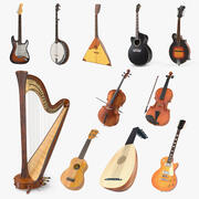 Stringed Instruments Collection 6 3d model
