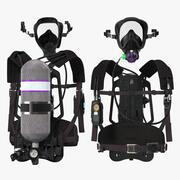 Solunum cihazı 3d model