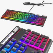 RGB Mechanical Gaming Keyboard aktiverat 3d model