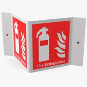 Ein Rahmen Feuerlöscher Zeichen 3d model