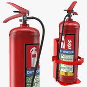 Kraftig marin konsol med brandsläckare 3d model