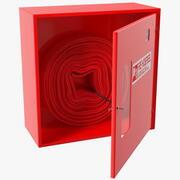 Fire Hose Cabinet Set 3d model