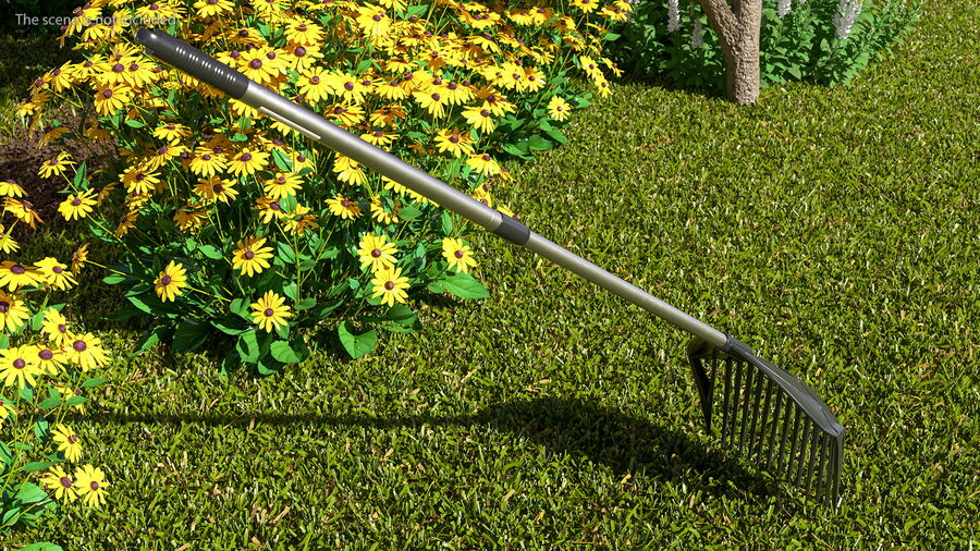 MLTOOLS Combined Rake Shovel and Sieve royalty-free 3d model - Preview no. 3