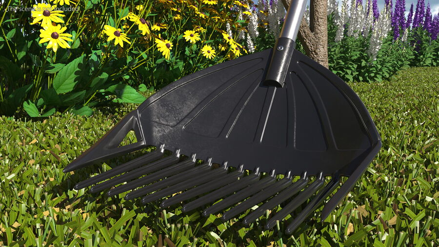MLTOOLS Combined Rake Shovel and Sieve royalty-free 3d model - Preview no. 5