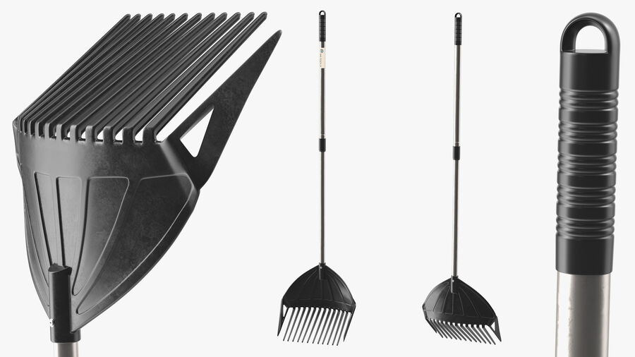 MLTOOLS Combined Rake Shovel and Sieve royalty-free 3d model - Preview no. 7